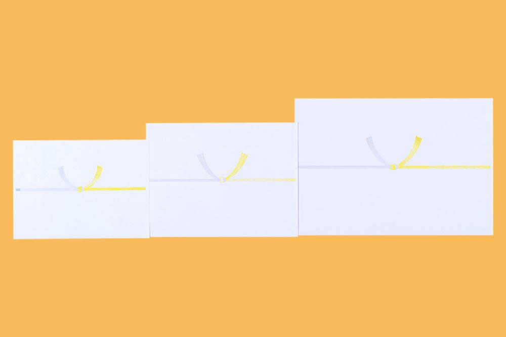 仏のし紙 黄白水引