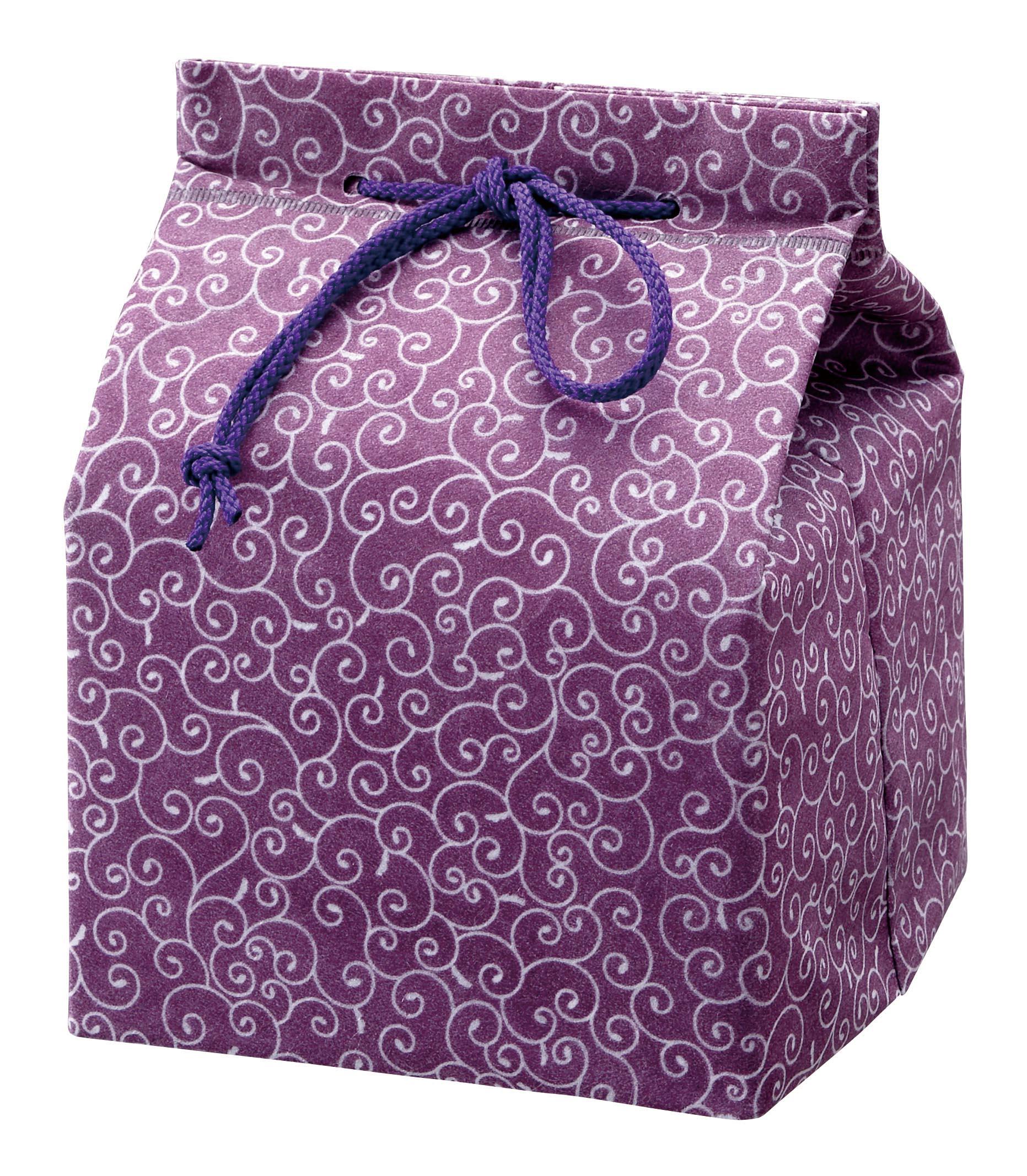 信玄袋「唐草」紫