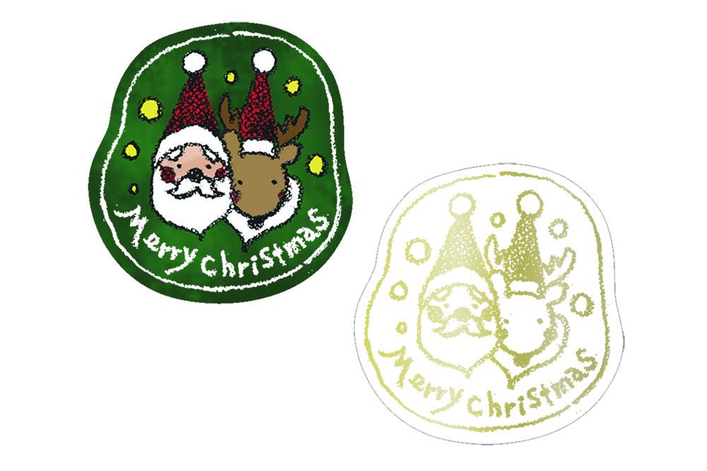 シール クリスマス</br>No.3-1、3-2