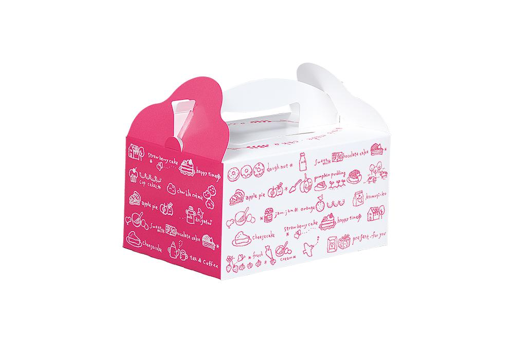 洋菓子サービス箱T</br>(手提げ)おいしい時間</br>ピンク