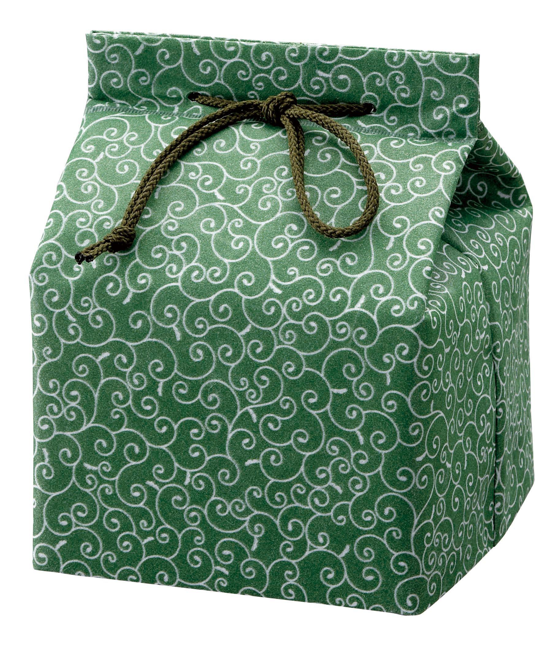 信玄袋「唐草」緑